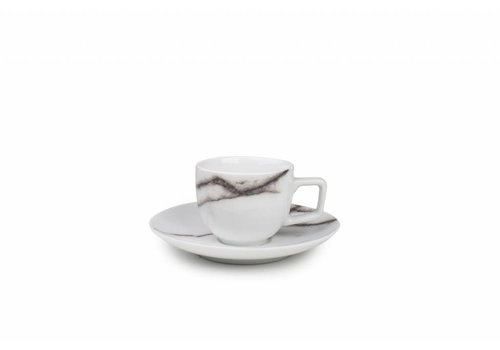 S&P MARBLE mokkakop and saucer set 0.1L / 4