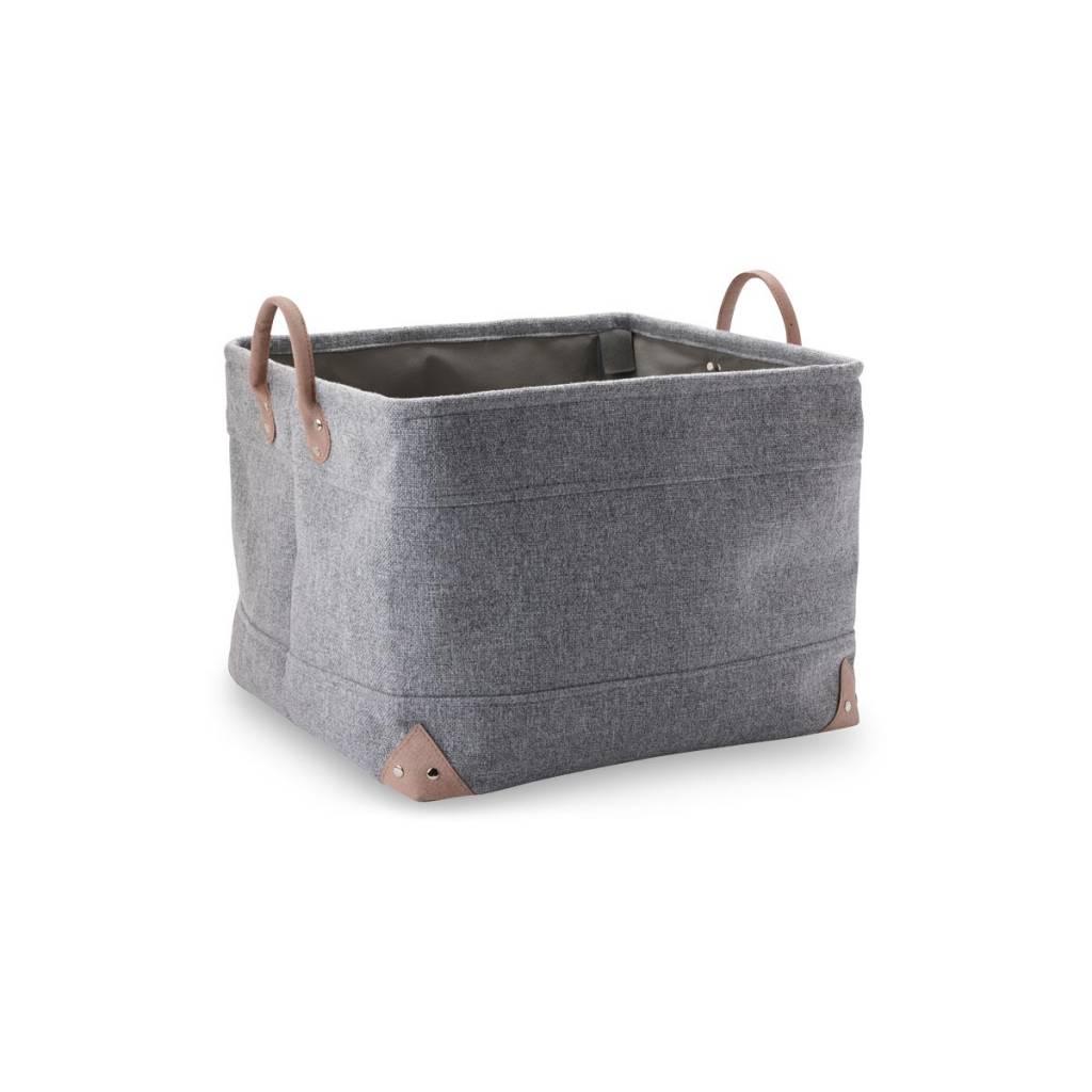 panier de rangement lubin gris argent 95 grand bath living. Black Bedroom Furniture Sets. Home Design Ideas