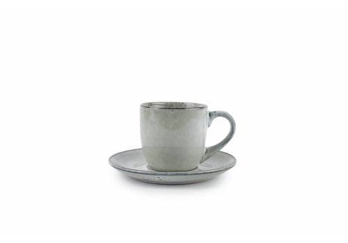 S&P ARTISAN kop og tallerken 220 ml (grøn) sæt / 4
