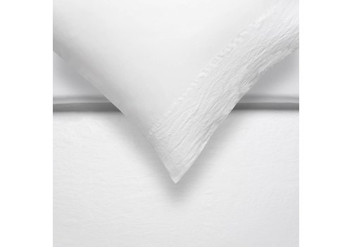 Vandyck PURE 07 duvet cover 140x200 / 220 cm White (linen / satin cotton)