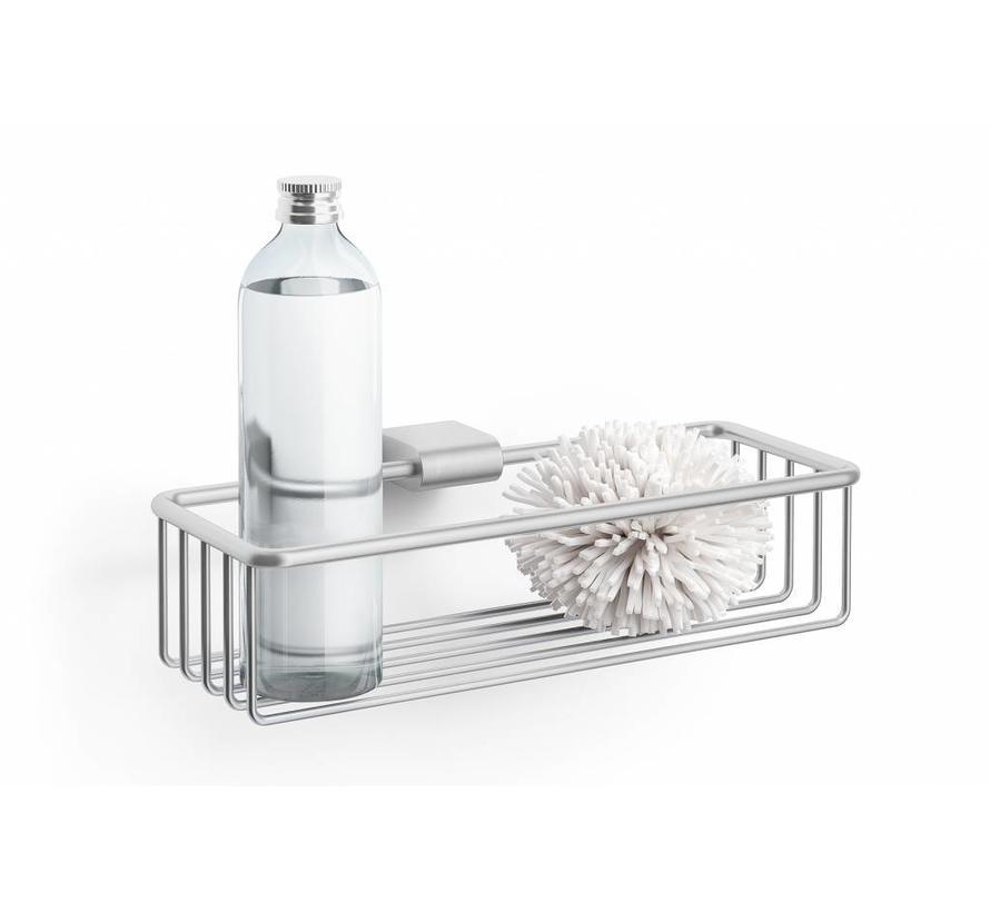 zack atore panier de douche 28 8 cm acier inoxydable bross mat bath living. Black Bedroom Furniture Sets. Home Design Ideas