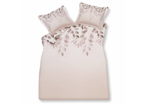 Vandyck LEAF duvet cover 200x220 cm (sateen cotton) Sepia Pink-144