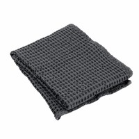 Handdoek wafelpatroon 50x100 cm CARO kleur Magnet, donkergrijs, 400 gr/m² (69000)