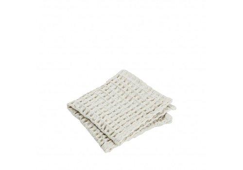 BLOMUS Gæstehåndklæde (sæt / 2) CARO 30x30 cm Moonbeam (light stone)