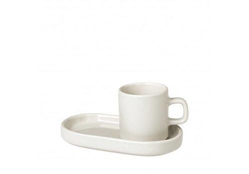 BLOMUS MIO espresso cup 50ml with dish Moonbeam (set / 2)