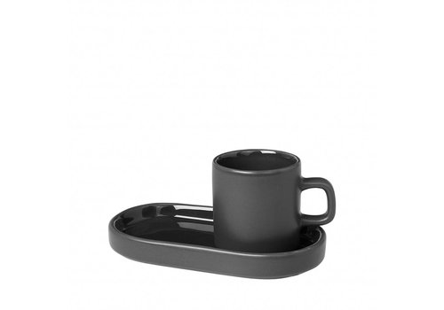 BLOMUS MIO espressokop 50ml met schotel Agave Green (set/2)