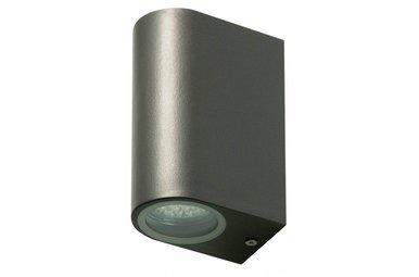 LED Buitenwandlamp van roestvrijstaal met twee lichtpunten
