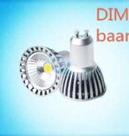 DIMBAAR LED SPOT GU10 COB 6w warmwit