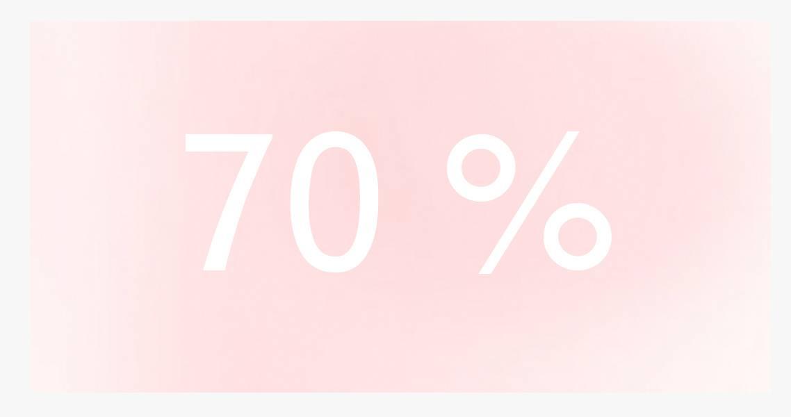 1 stuks 70%