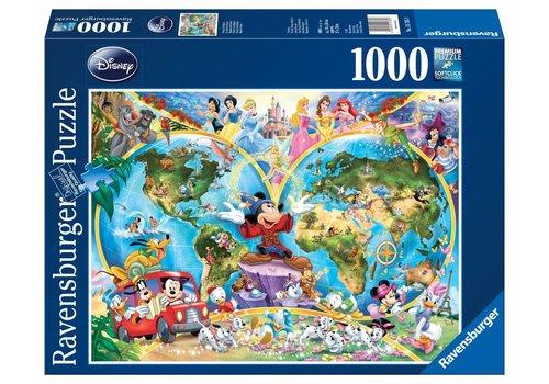Ravensburger Disney's wereldkaart - 1000 stukjes