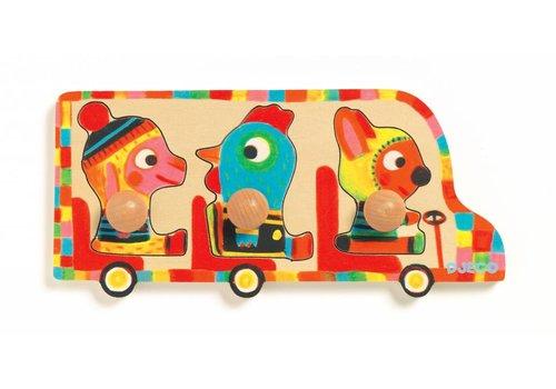 Djeco Samen op de bus - 3 stukjes