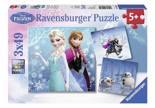 Frozen - winteravontuur - 3 x 49 stukjes