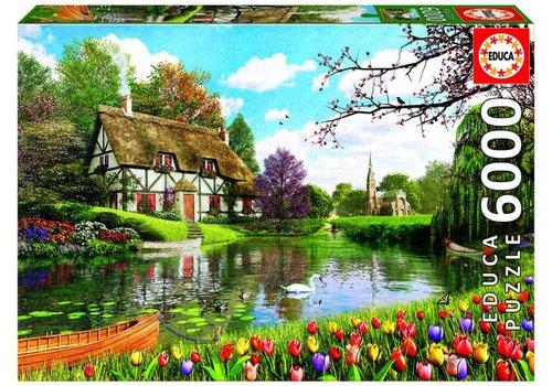 Cottage in de lente - 6000 stukjes