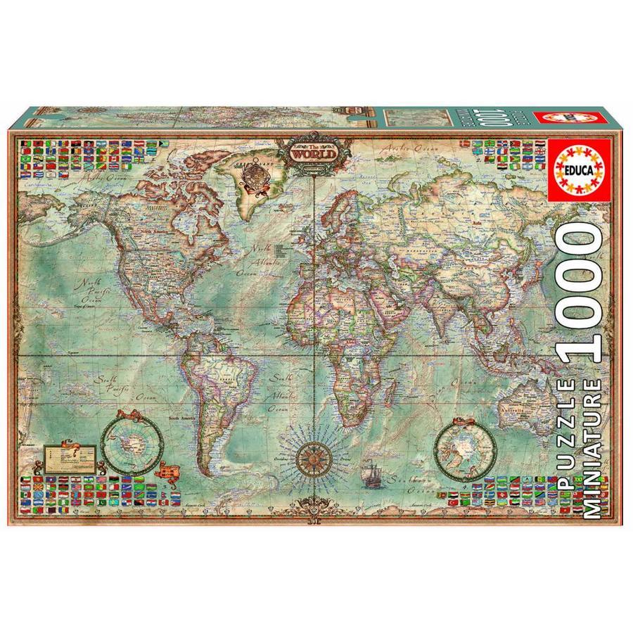 Educa miniatuur puzzel wereldkaart 1000 stukjes puzzels123 miniatuur puzzel wereldkaart 1000 stukjes altavistaventures Images
