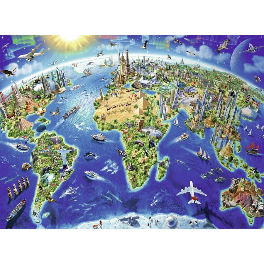 Ravensburger world map in symbols 200 pieces puzzle puzzles123 world map in symbols 200 pieces puzzle gumiabroncs Image collections