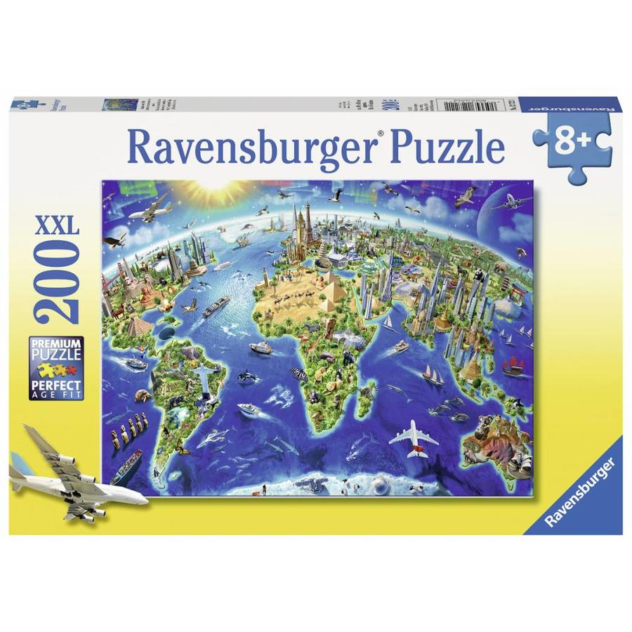 Ravensburger World Map In Symbols 200 Pieces Puzzle Puzzles123