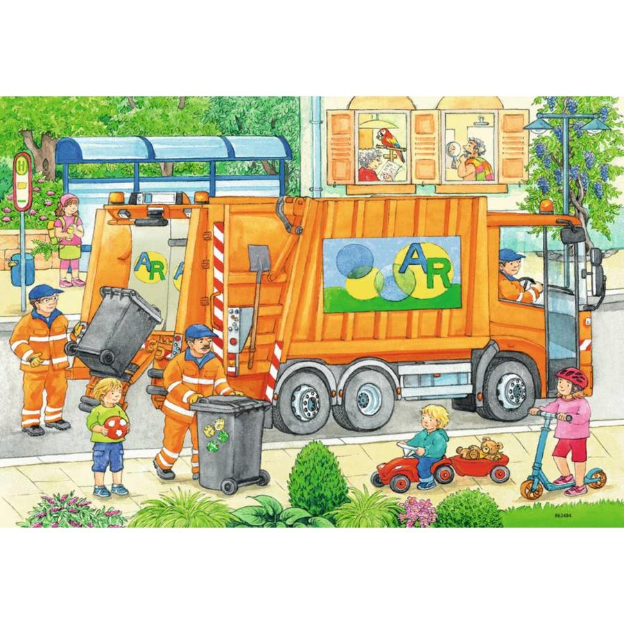 Buying Cheap Ravensburger Puzzles Wide Choice Puzzles123 Garbage Truck 2 Of 12 Pieces