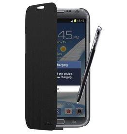 Zens Flip Case Galaxy Note 2 Draadloze oplader zwart