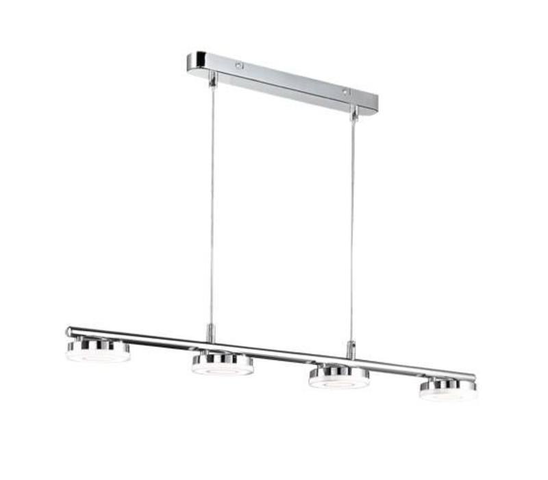 RENNES 4x 4W chroom hanglamp