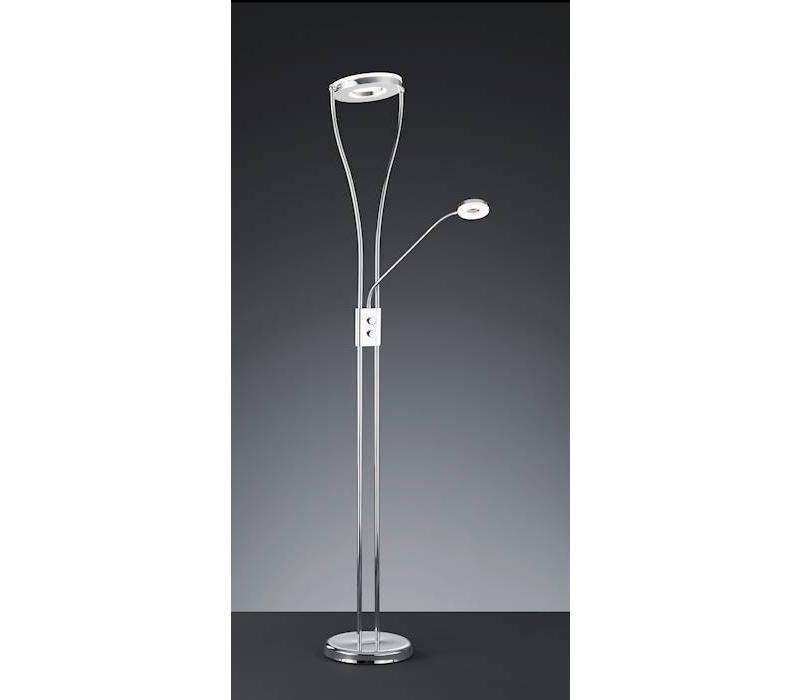 RENNES LED 18W / 4W chroom vloerlamp
