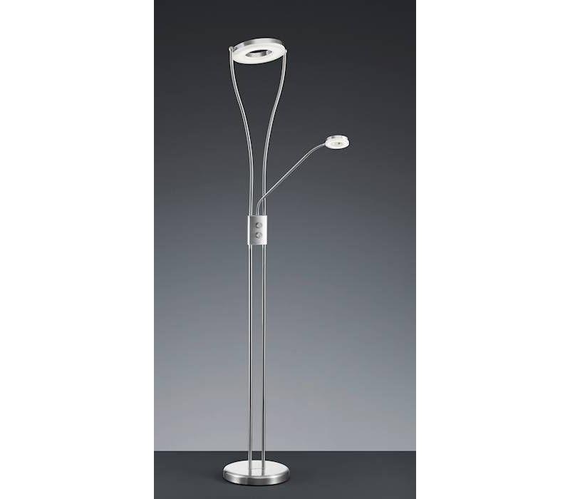 RENNES LED 18W / 4W nikkel vloerlamp