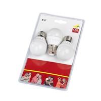 E27 6W 3000K LED compact / 3 st