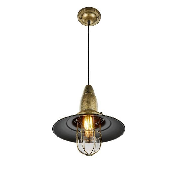 Trio FISHERMAN hanglamp Oud Brons