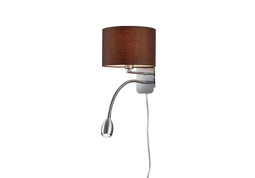 Trio HOTEL R bruin bedlamp