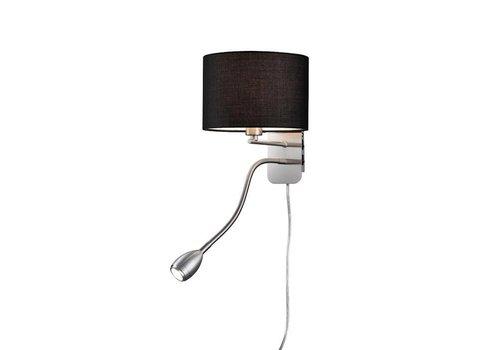 Trio HOTEL R zwart bedlamp