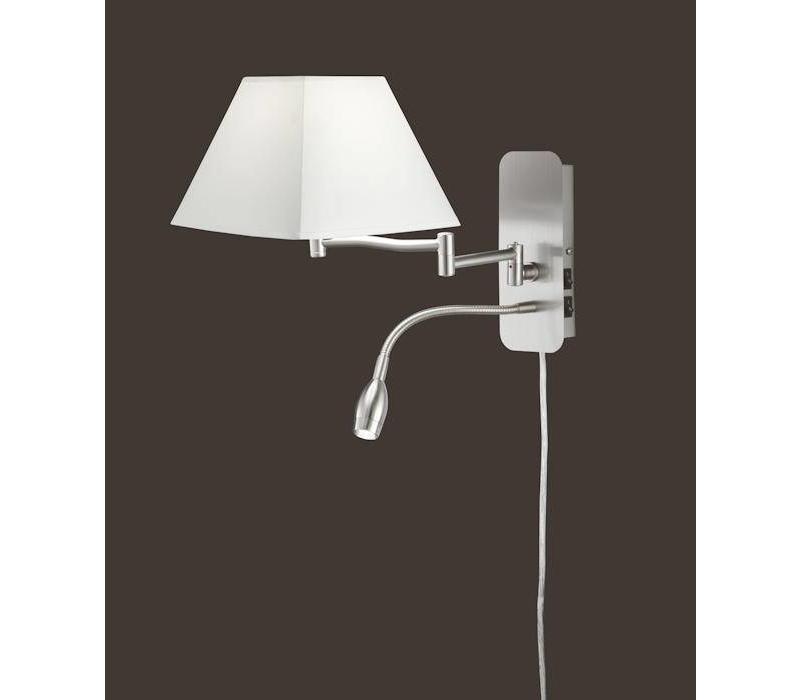 HOTEL V wit bedlamp