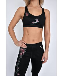 URBAN ROSE Racerback Bra Black