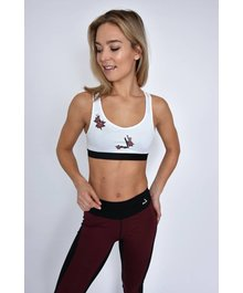 URBAN ROSE Racerback Bra White