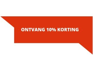 Schrijf een review en ontvang 10% korting!