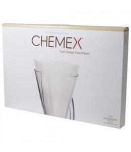 Chemex Filters 3-Kops - Ongevouwen - 100 Stuks