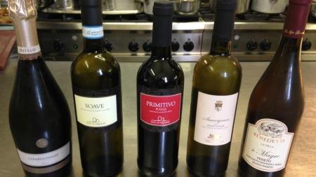 De Italiaanse wijnen bij de culinaire avond in Restaurant de Gevangenpoort