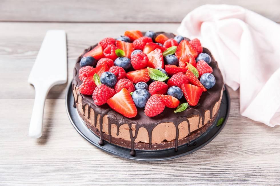 Bijna Kerst... Het dessert - Cheesecake van Chocolade met Bosfruit