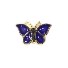 Floating Charms Floating charm goud vlinder blauw
