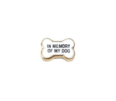 Floating Charms Floating locket charm in memory of my dog goud