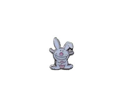 Floating Charms Floating locket charm vrolijk konijn zilver