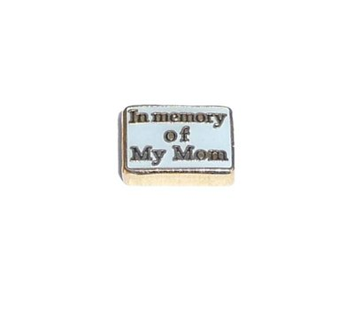Floating Charms Floating locket charm in memory of my mom goud