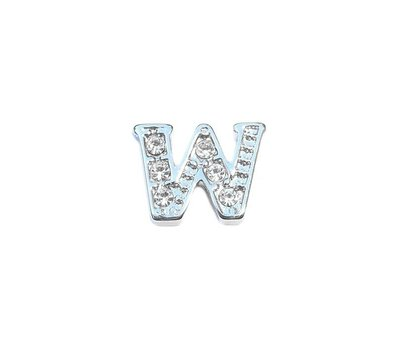 Floating Charms Floating charm letter w zilver voor de memory locket