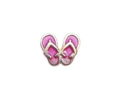 Floating Charms Floating locket charm slippers goud