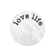 Locket Disks Floating locket disk love life zilver