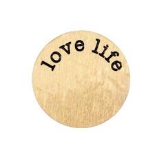 Floating locket  discs Memory locket disk love life goud