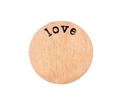 Locket Disks Floating locket disk love rose goud