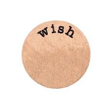 Locket Disks Floating locket disk wish rose goud