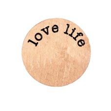 Floating Charms Floating locket disk love life rose goud