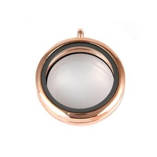Floating memory lockets Rose gouden memory locket rond large