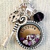 Clip on charms Geboortesteentje dangle augustus