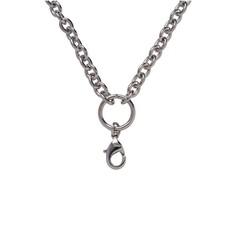 Ketting zonder hanger Zilveren rvs solid loop ketting